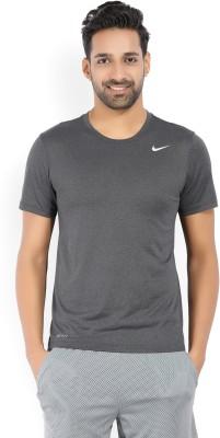 Nike Solid Men's Round Neck Grey T-Shirt