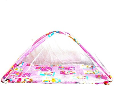 Taaza Garam Plushy Butterfly Twist and Fold Musical Activity Play Gym-Newborn Play Mat with Mosquito Net 0-30 Months