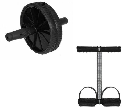 Instafit Ab Wheel Roller With Single Spring Tummy Trimmer Home Gym Kit