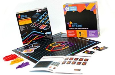 Kitki Three Sticks Math Game Puzzles For Kids Educational Stem Toys. Gifts For Boys & Girls Of Ages 8 & Up. Improves Geometry, Logical