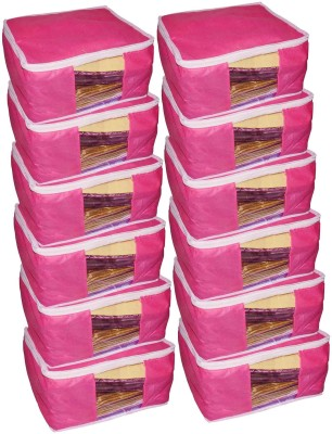 ABHINIDI High Quality Pack of 12 Non Woven 10inch Designer Height Saree Cover Gift Organizer bag vanity pouch Keep saree/Suit/Travelling Pouch