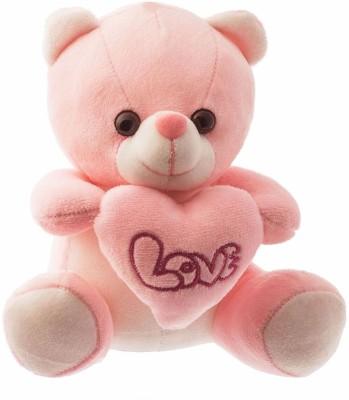 Dimpy Stuff Dimpy Bear W/Heart Pink  - 17 cm
