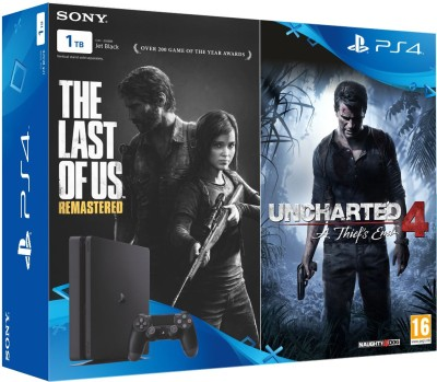 Sony PlayStation 4 (PS4) Slim 1 TB with The Last of Us and Uncharted 4