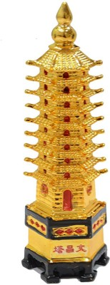 Gift Décor Shop Education tower for students education tower for vastu education tower pagoda - feng shui education tower For Academic Success For Child (Golden, 14 cm) Decorative Showpiece  -  14 cm