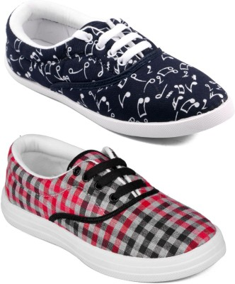 Asian Women Casual & Running Shoes Combo Pack of 2 Canvas Shoes For Women