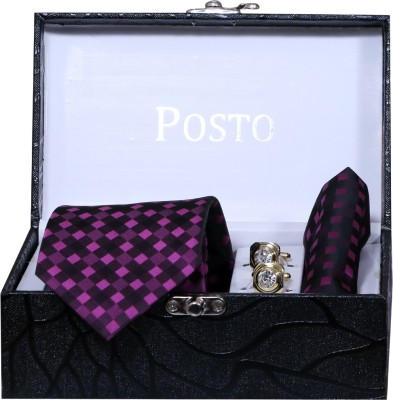 Posto Accessories Set of 3 (Combo Pack) Solid Men Tie