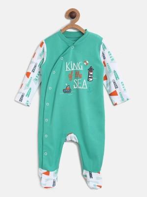 Mini Klub Baby Boys Green Sleepsuit