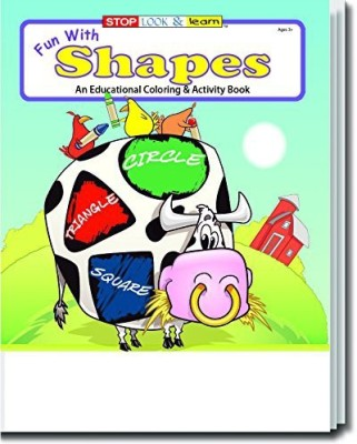Safety Magnets Fun With Shapes Kid'S Educational Coloring & Activity Book In Bulk (25-Pack)