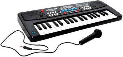 AR Enterprises 37 Key Piano Keyboard Toy with DC Power Option, Mic and Recording