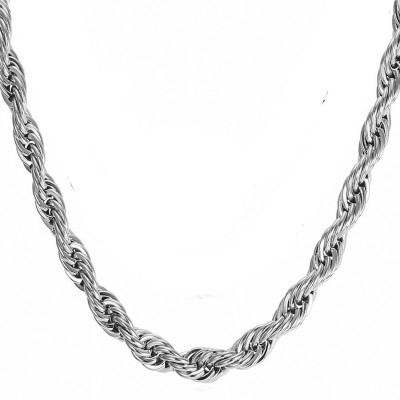 Meenaz Cubic Zirconia Rhodium, Sterling Silver Plated Silver, Copper, Brass Chain