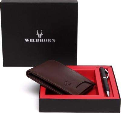WildHorn Men Casual Brown Genuine Leather Wallet