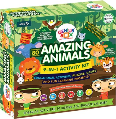 Genius Box Learning and Educational Toys for Children: Amazing Animals Activity Kit / Educational Kit / Learning Toy / STEM