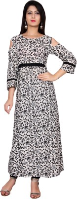 Metro Fashion Women Printed Gown Kurta