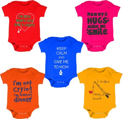 Kiddeo Baby Boys & Baby Girls Multicolor Bodysuit
