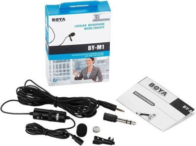 Boya Original Omnidirectional Lavalier Condenser Microphone with 20ft Audio Cable- for DSLRs Camcorders Video Cameras and iPhone Samsung HTC Smart Phone Microphone Camera Microphone