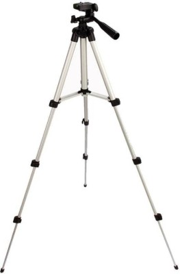 Mezire Adjustable 3Way Head Mobile Phone Camera Stand Holder Tripod Kit  (Silver, Black, Supports Up to 1000) Tripod