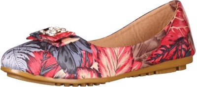 Footshez Floral Printed Flat Beliie Shoe For Women And Girls Bellies For Women