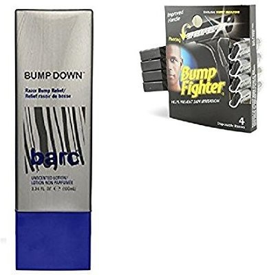 Generic Bump Down Razor Bump Relief, Alcohol-Free, Unscented LotionAftershave + Bump Fighter Razor for Men + Bump Fighter Cartridge Refill, Aftershave + Makeup Blender
