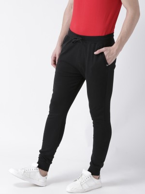 Young Trendz Solid Men's Black Track Pants