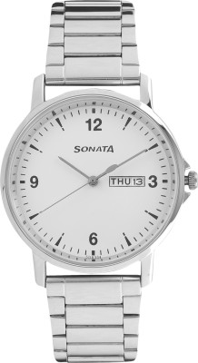 Sonata 77083SM01 Gents Essentials Analog Watch  - For Men