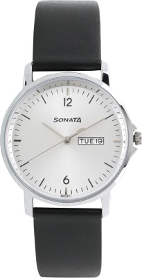 Sonata 77083SL02 Gents Essentials Analog Watch  - For Men