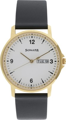 Sonata 77083YL01 Gents Essentials Analog Watch  - For Men