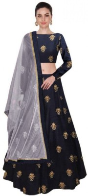 Shree Impex Embroidered Semi Stitched Lehenga, Choli and Dupatta Set