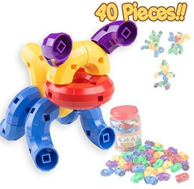 Generic Caterpillar Building Blocks 40 Pcs Set - Stem Toys For Boys & Girls - Educational Toy For 3 4 5 6 Year Olds Kids - So Much Fun -