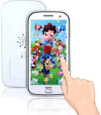 Cooplay White 3D Picture Toy Mobile Cell Phone Touch Screen Cellphone Play Music Early Education For Baby And Kids Sets Of 1