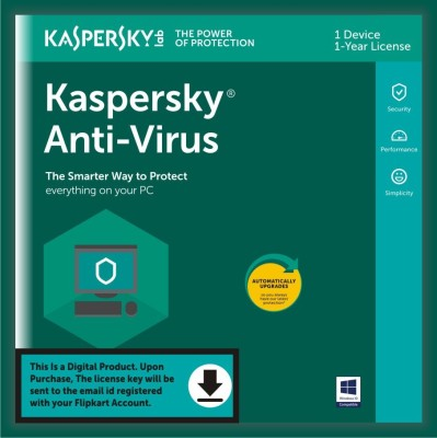 KASPERSKY 1 User 1 Year Anti-virus (Email Delivery - No CD)