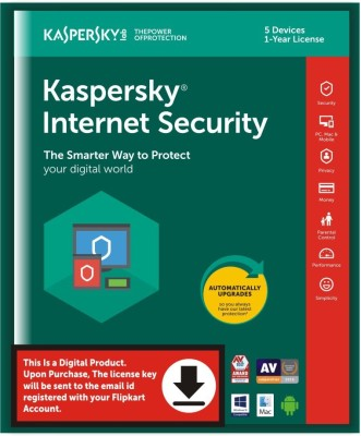 KASPERSKY 5 User 1 Year Internet Security (Email Delivery - No CD)