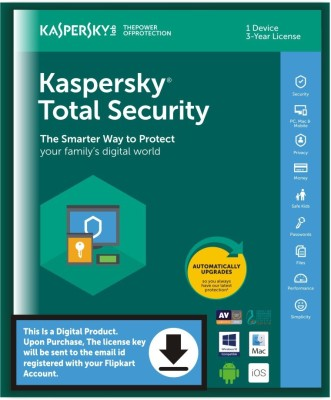 KASPERSKY 1 User 3 Years Total Security (Email Delivery - No CD)