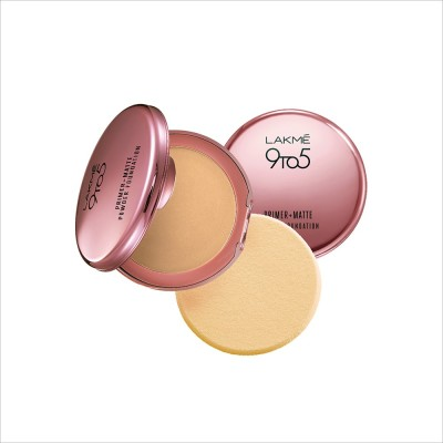 Lakme 9 to 5 Primer Plus Matte Powder Foundation Compact