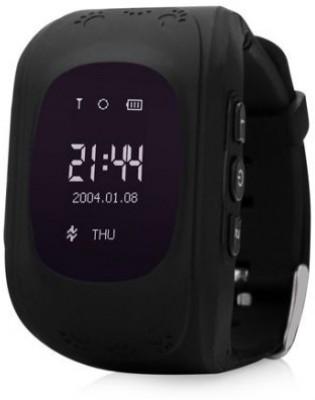 MOBILE LINK Generic BLACK: Promoting Q50 GPS Smart Watch kids SOS Call Location Finder Locator Tracker Child Anti Lost Monitor Baby Chirldren Wristwatch BLACK Smartwatch