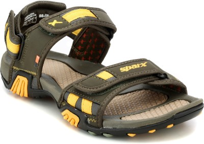 Sparx Sparx Men SS-428 Olive Yellow Floater Sandals Men Yellow, Black, Green Casual