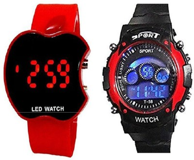 blutech new styles redsports and red apple kids combo Digital Watch  - For Boys