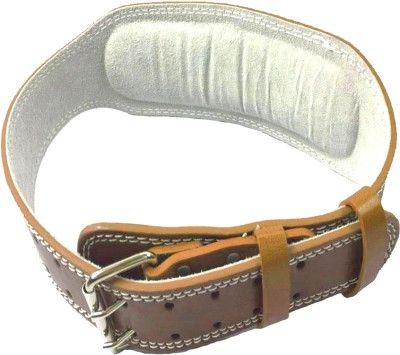 Monika Sports Leather padded weight lifting belt for Back Support Waist Support