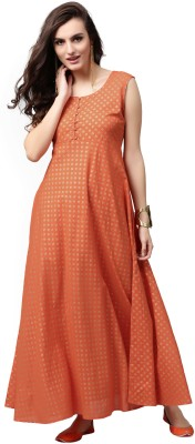 Aks Women's Maxi Orange Dress
