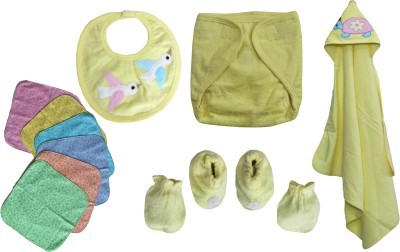 FAVISM 100% Pure Soft Cotton New Born Baby Gift Set Combo Pack of 11 Pcs. – ( 0 - 6 Months ) !! Skin Friendly n Premium Quality !!