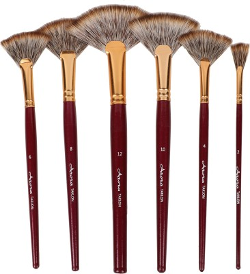 Kabeer Art Taklon Fan Painiting Brush Set
