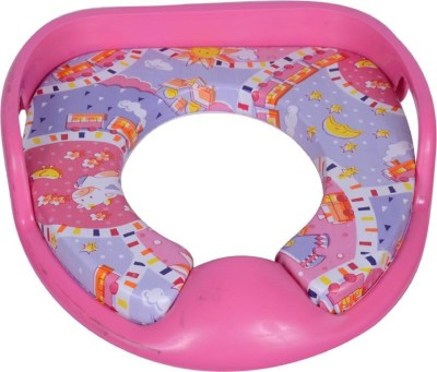 VShine Baby Potty Training Seat with cushion Potty Seat with Handle, Toilet Training commode Seat - Pink Potty Seat