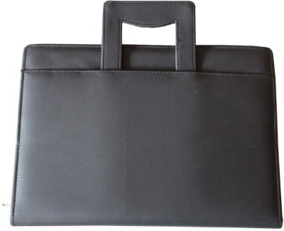 Furious3D Black Faux Leather Adustable Handle Document/File Folder (A4/B4)