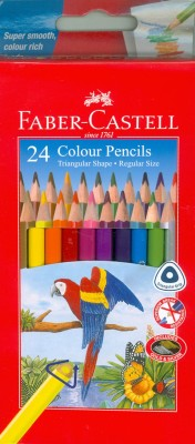 Faber-Castell 24 Triangular Colour Pencils (Cmg) Pencil