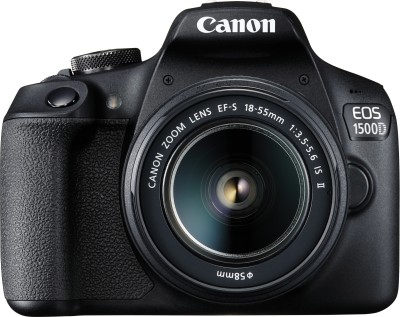 Canon EOS 1500D DSLR Camera Single Kit with 18-55 IS II lens (16 GB Memory Card & Carry Case)