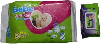 Krivi kids Baby Diaper With Wipes - S