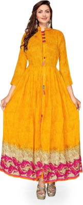 Metro Fashion Women Self Design Anarkali Kurta