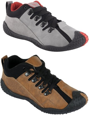 Chevit Men's Combo pack of 2 Casual (Running Shoes) Running Shoes For Men