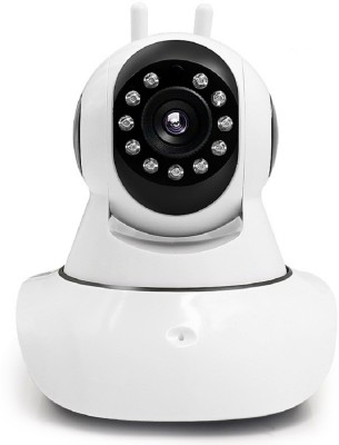 Padraig IP Wi-Fi Wireless, HD IP Security Camera CCTV, Supports up to 128 GB SD card, Dual Antenna, Fully Night Vision, Smart Monitoring System, Compatible With Mobile, Tablet, Laptop, Desktop, (White) Home Security Camera