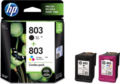 HP 803 combo pack Multi Color Ink Cartridge