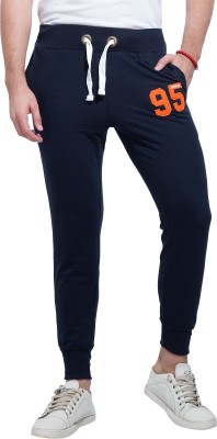 Alan Jones Solid Men's Dark Blue Track Pants
